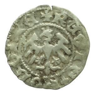 Władysław Jagiełło – półgrosz sygnatura O (1410-1412 r.)